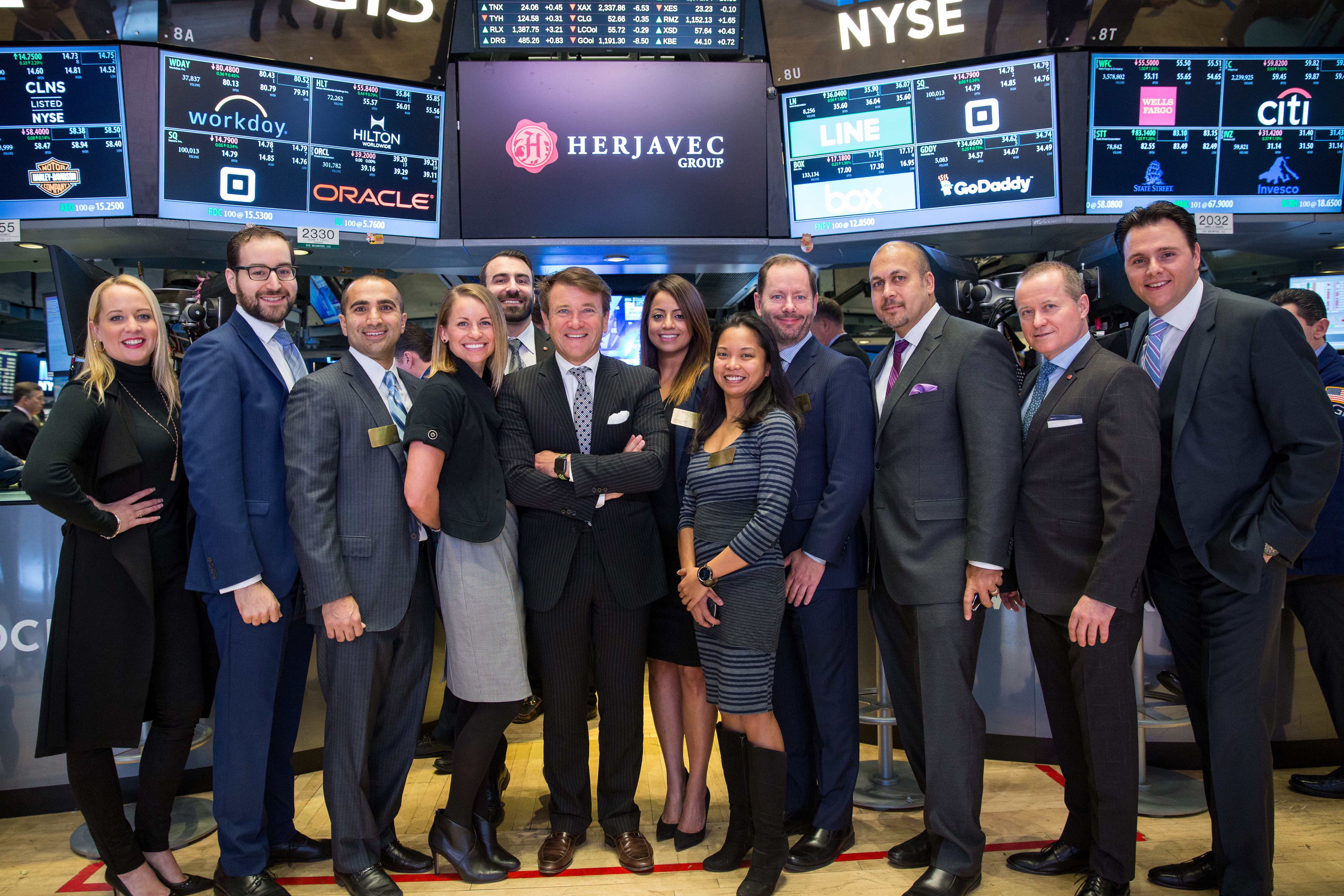 Herjavec Group Ringing NYSE Opening Bell