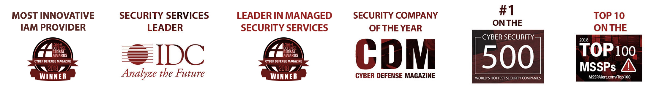 #1 on the Cybersecurity 500, Top 10 MSSP's on MSSP Alert