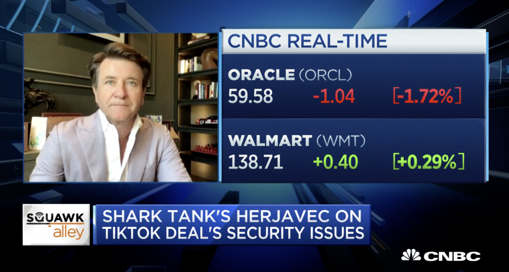 CNBC: Robert Herjavec on the TikTok Deal and Security Concerns